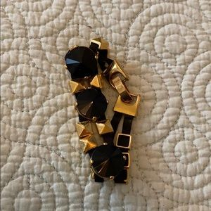 Black and gold studded bracelet
